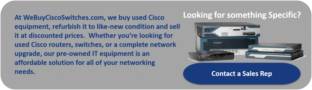 Buy New, Used and Refurbished Cisco Equipment