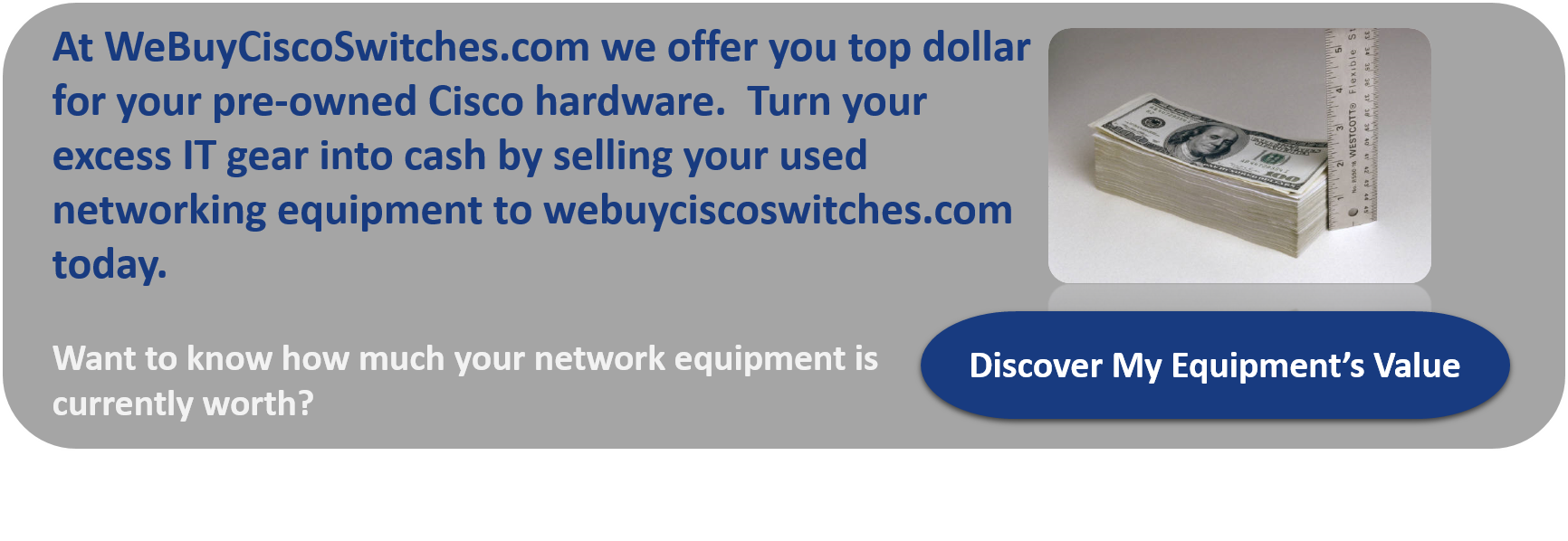 sell your used cisco swithes and routers